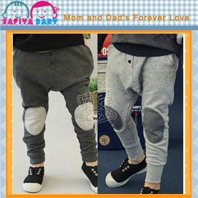 'Retail Kids Pants 2013 Autumn And Winter Fashion The Patch Baby Clothing Children's Fleece Trousers Boys Harem Pants Kz-1101(China (Mainland))