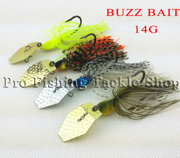 Peisca 4pcs/lot 14g Buzz Fishing Spinnerbaits Spinner Spoons Blades Skirts Hooks 3d Eyes Baits Lures sets Tackles mighty bite(China (Mainland))