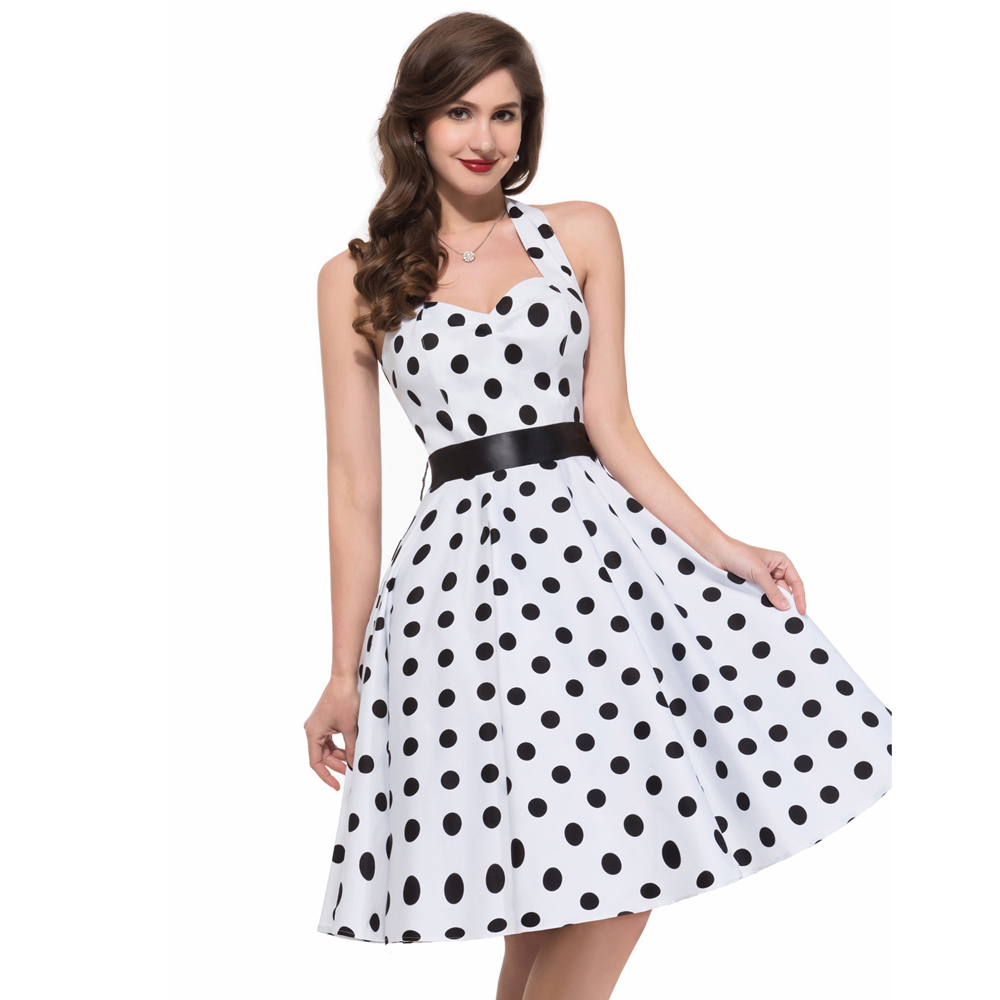Retro Summer Dress - Colorful Dress Images of Archive