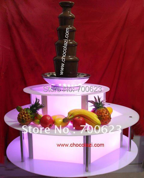 Lighting Illuminated base for commercial chocolate fountains,Remote control Arcylic (Free shipping)