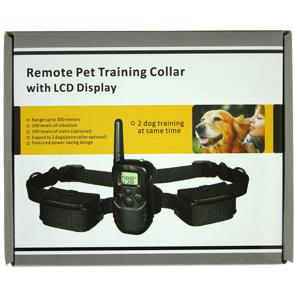 Electronic Dog Collar Remote Control Anti Bark Dog Shock Training Collar With LCD Display 998D Electronic Dog Collar(China (Mainland))