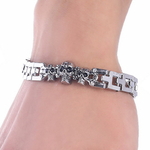 Buy Stainless Steel Bracelets Men 316L Stainless Steel Bracelet Silver, Color Mens Boys bracelet Wholesale Gift Jewelry Punk Skull for $1.68 in AliExpress store