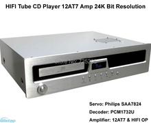 hifi cd tubo giocatori 12at7 amplificatore 24 k frequenza di campionamento bit di risoluzione 10 ~ 180 khz(China (Mainland))