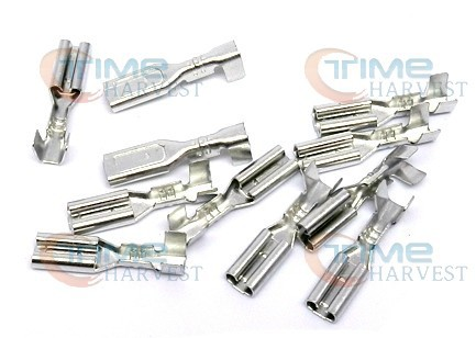 100 pcs 2.8mm Spade Quick Connector AWG .110 Silver Terminal Crimp Female Terminal for Chain cable Wires Arcade Jamma Harness(China (Mainland))