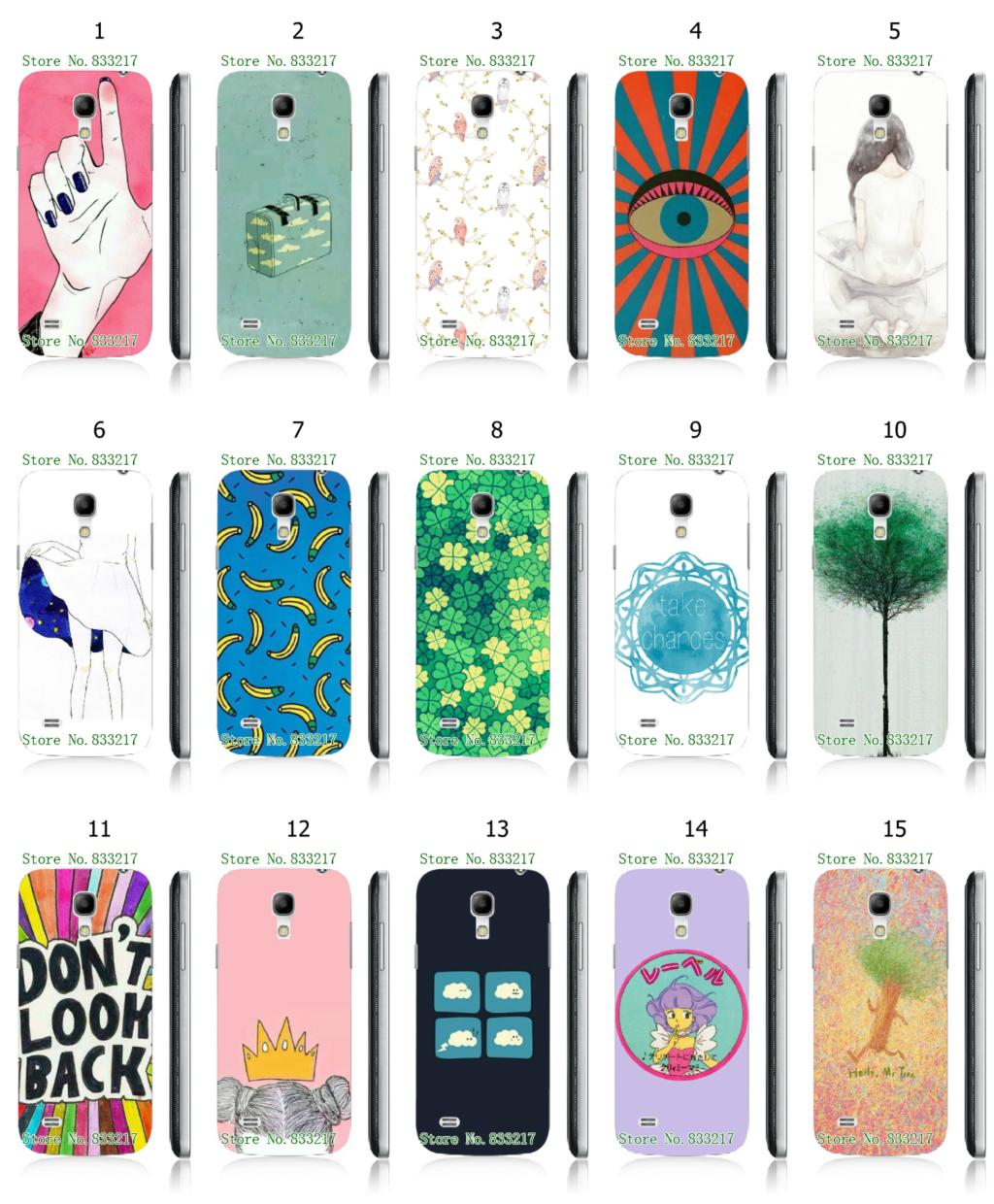 Mobile Phone Case Hot 1pc Plants Hybrid Design Protective White Hard Case For samsung galaxy I9190(S4 MINI) Free Shipping(China (Mainland))