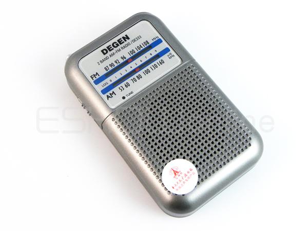 New DEGEN DE333 FM AM Radio Receiver Mini Handle Portable Two Bands radio A0796A