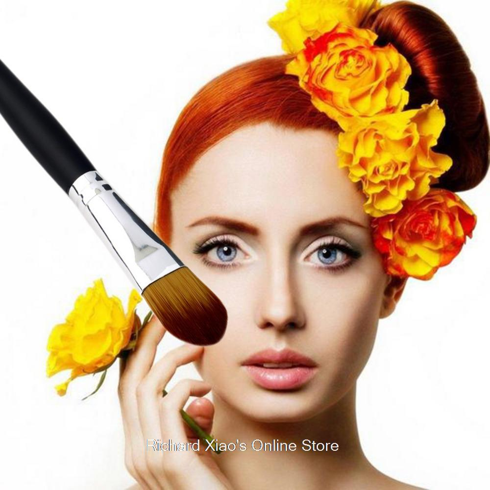 1pcs Professional Synthetic Fiber Brush For Face Liquid Foundation Cosmetic Makeup  Wholesale high Quality <br><br>Aliexpress