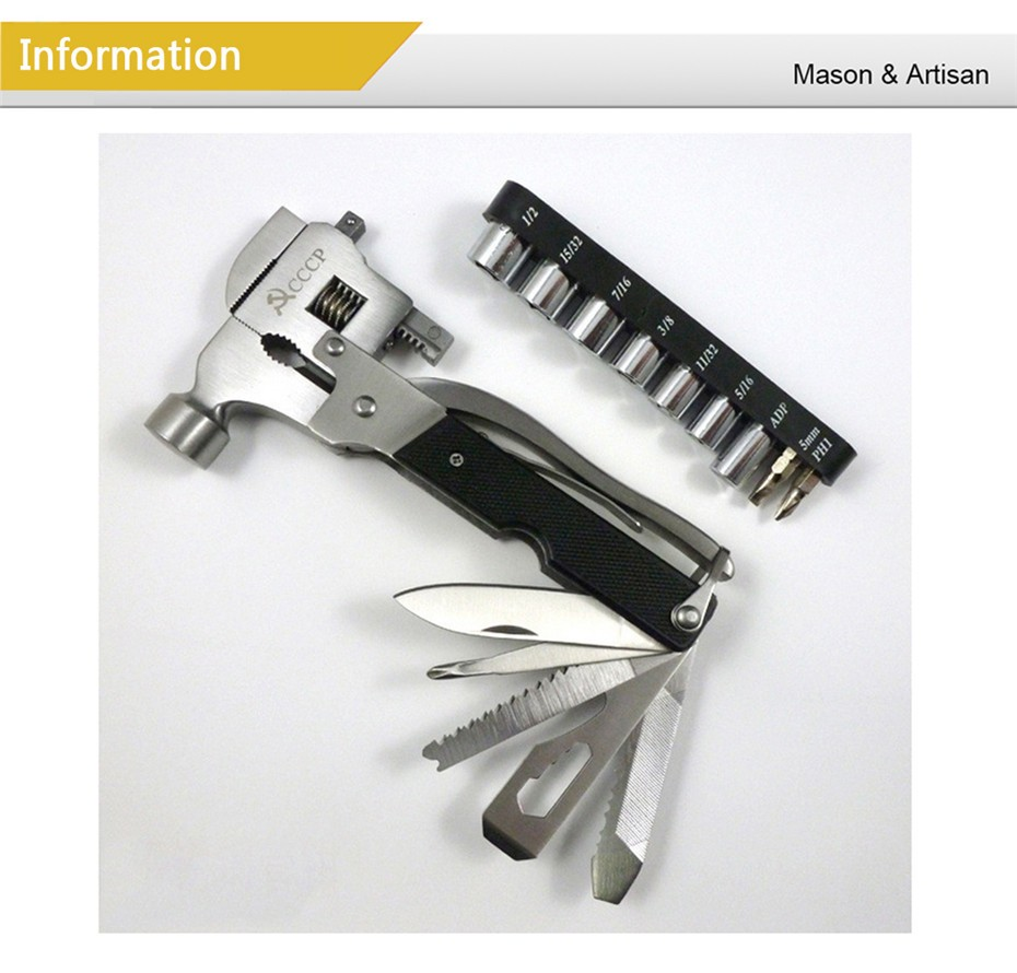 Buy Stainless  Steel Hammer With Sleeve Multifunction Pliers  Large Pipe Wrench Hand Tool  Herramientas cheap