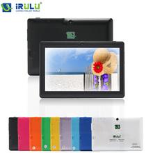Newest! iRulu 7″  Tablet PCs Dual Core Allwinner  Android 4.2 Tablet PC 1.5GHz ROM 8GB Dual Camera OTG USB 3G WIFI Multi-colors