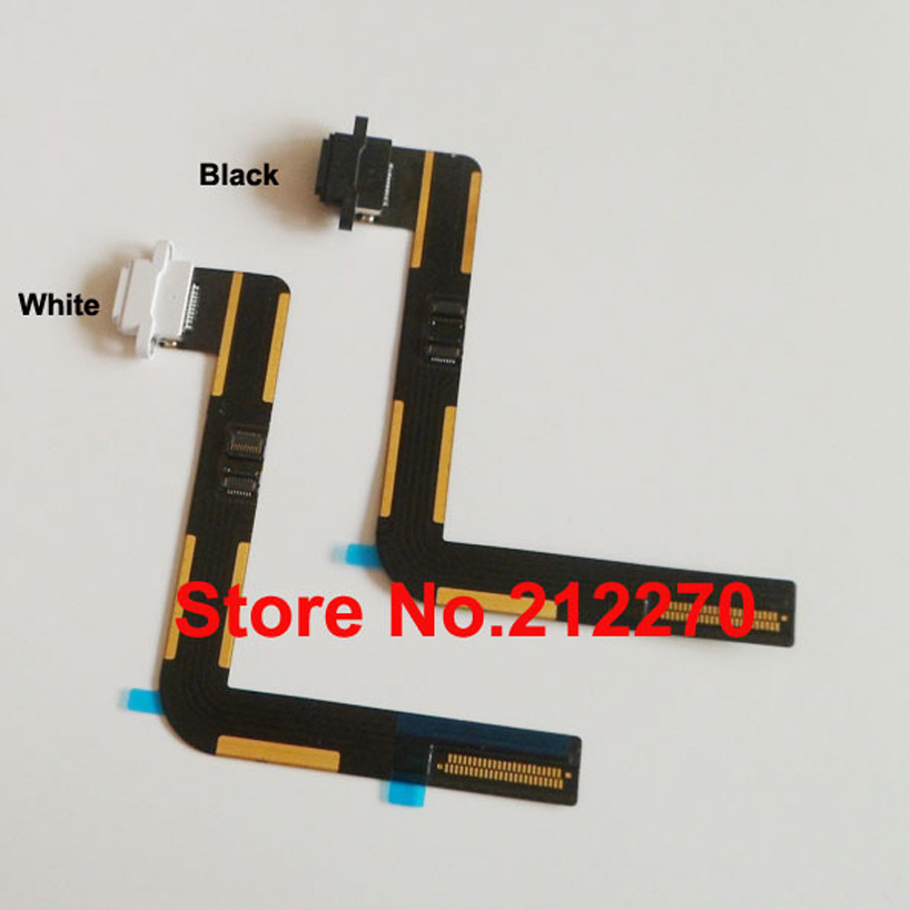 Original New Charger Charging Dock Port Connector Flex Cable For iPad Air Black/White Free Shipping With Tracking Number(China (Mainland))