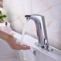 Wholesale And Retail Promotion Bathroom Sensor Faucet Mixer Tap Deck Mount Hot And Cold Water W