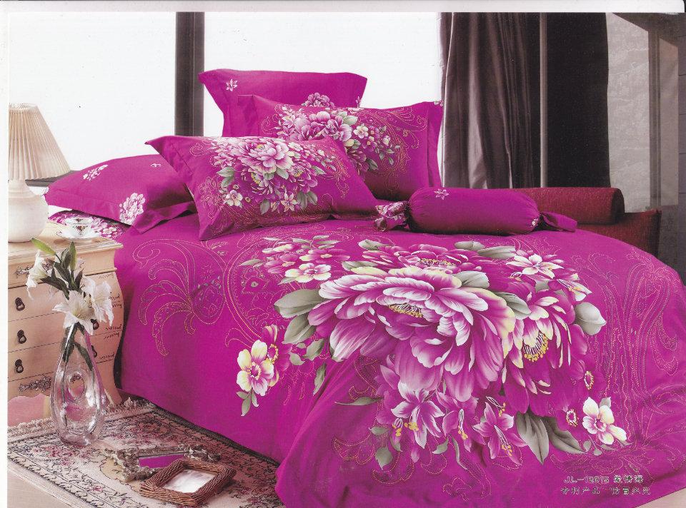 12-free shipping Bedding 100% active slanting cotton stripe print four piece set - sea of love(China (Mainland))
