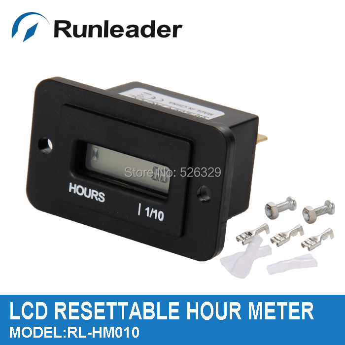 (50pcs/lot)LCD Resettable Engine AC Hour Meter Used For Generator Lawn Mower Snowmobile Tractor Truck Pump Car(China (Mainland))