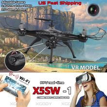 NEW X5SW-1 6-Axis Gyro 2.4G 4CH Rc Helicopters FPV Quadcopter Drone WIFI With Camera Work With VR Model