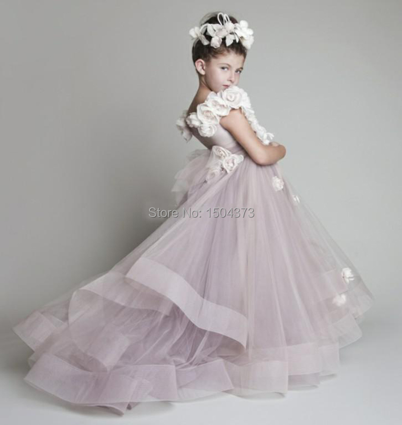 Hot sale purple lavender flower girls dresses for weddings for Girls dresses for a wedding