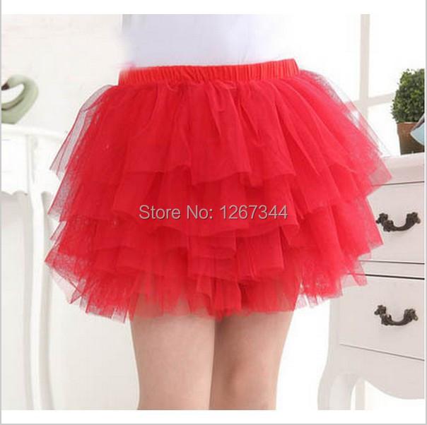 9 color all in stock, girls ballerina tutu skirts baby cotton skirt childrens chiffon fluffy pettiskirts kids silk casual skirt(China (Mainland))