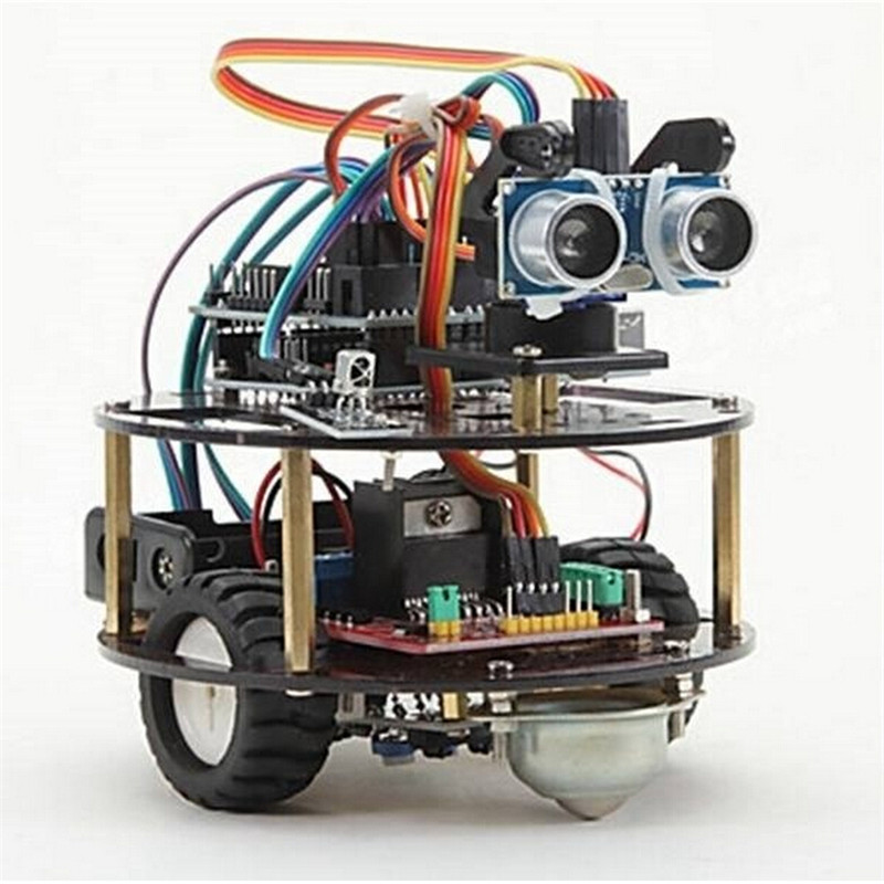 Intelligent Car Learning Suite Robot Intelligent Turtle Wireless Control Based For Arduino Robot Car Assembly Kit(China (Mainland))