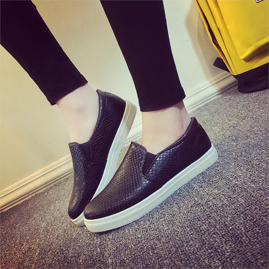 2016 autumn leather shoes for black
