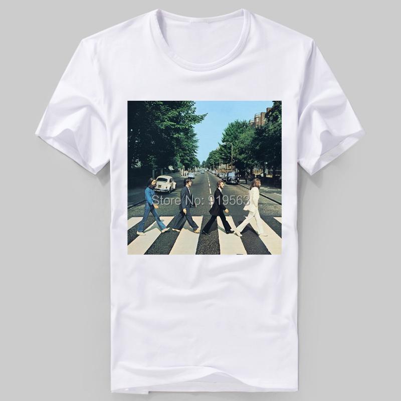 beatles abbey road HD printing short sleeves tee shirt summer cool(China (Mainland))