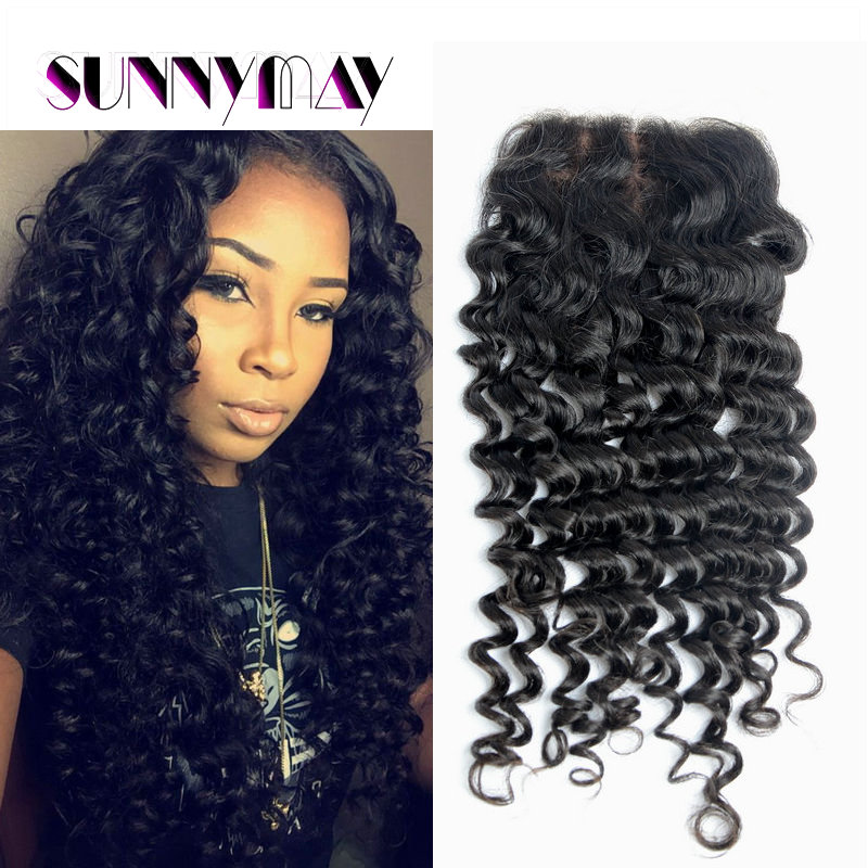 Fashion Curly Brazilian Virgin Silk Hair Closure<br><br>Aliexpress