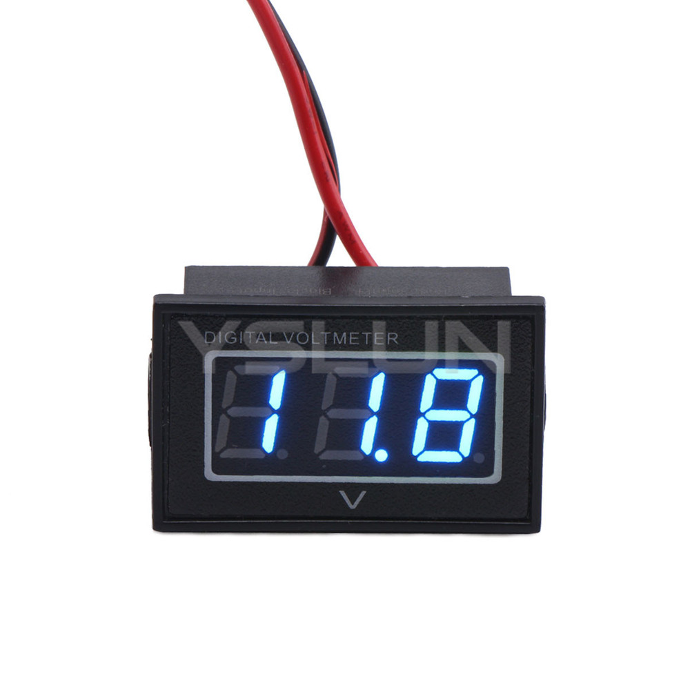 Small Digital Voltmeters Dc : Mini digital voltmeter dc v blue led volt meter