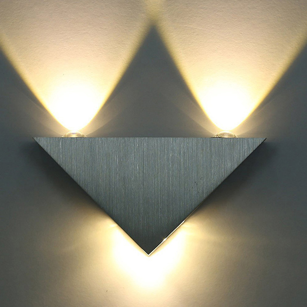 Bedroom modern wall lights - Modern Led Wall Lamp 3w Aluminum Body Triangle Wall Light For Bedroom Home Lighting Luminaire Bathroom Light Fixture Wall Sconce