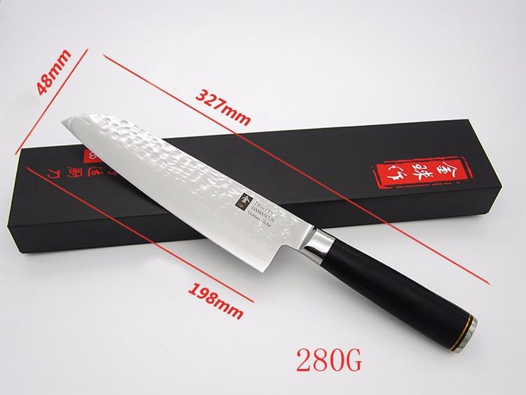 Buy 2016 7'' Stainless Steel Damascus Steel Kitchen Chef Knife multifunctional Janpanese Fruit Vegetables Knives Cleaver Knife cheap