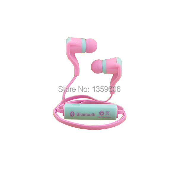 Colorful flat cable earphone Keeka B-1 bluetooth wireless earphone as a gifts for girls with free shipping(China (Mainland))