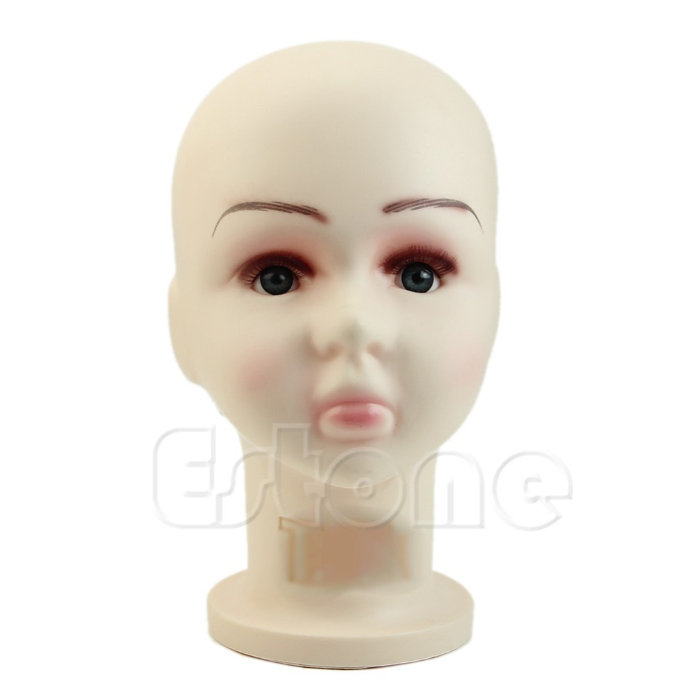 1PC Children Mannequins Manikin Head Wig Hats Mould Show Stand Model Display Medium Size(China (Mainland))