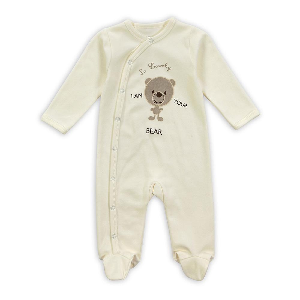 Newborn Long Sleeve Round Collar Cute Baby Pyjama Uni