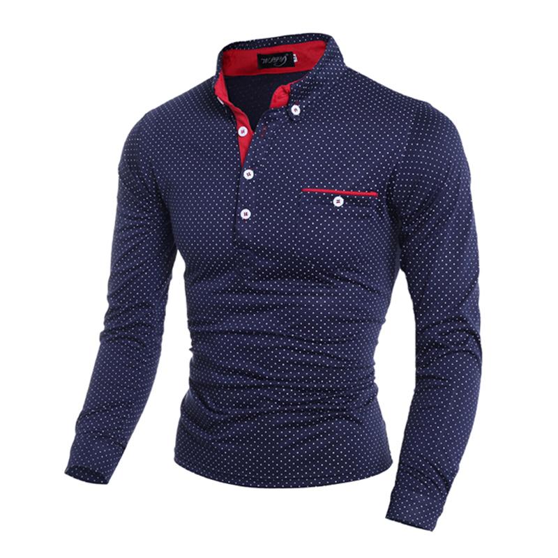 New Fashion Men Polo Shirt Casual Plus Size 3XL Full Sleeve Shirt Men Cool Long Sleeve Men Camisetas Largas Hombre 2016(China (Mainland))