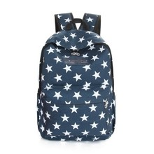 The stars light canvas backpack Boys and girls fashion school bag The new 2015  fresh and leisure travel bag lovely women bag