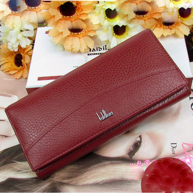 New Special sales Genuine leather wallet women's wallet clutch long design clip wallet Long Wallets Purse Bag (NO BOX PACKING)(China (Mainland))
