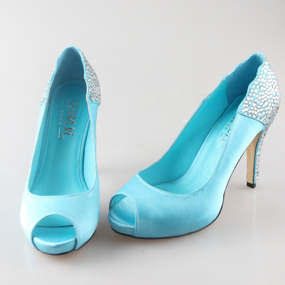 Aqua Color Dress Shoes
