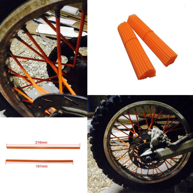 For KTM Kawasaki Motocross SPOKE SKINS Wheel RIM SPOKE SHROUDS COVERS for KTM EXC EXCF EXC F 125 250 450 500 Z750 Z800 Dirt Bike(China (Mainland))