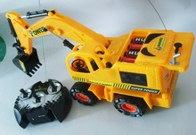remote control construction toys RC excavator truck 6 channels(China (Mainland))