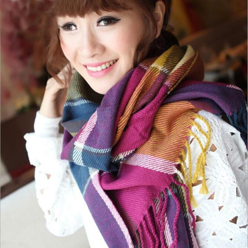 Women Fashion winter scarf 2016 Tartan Scarf women desigual Plaid Scarf cuadros New Designer Acrylic warm Blanket Scarves Shawls