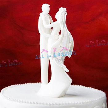 Fashion Boutique Bride & Groom Ceramic Figurine Wedding Cake Topper Wedding Gifts Cake Accessory  Free Shipping