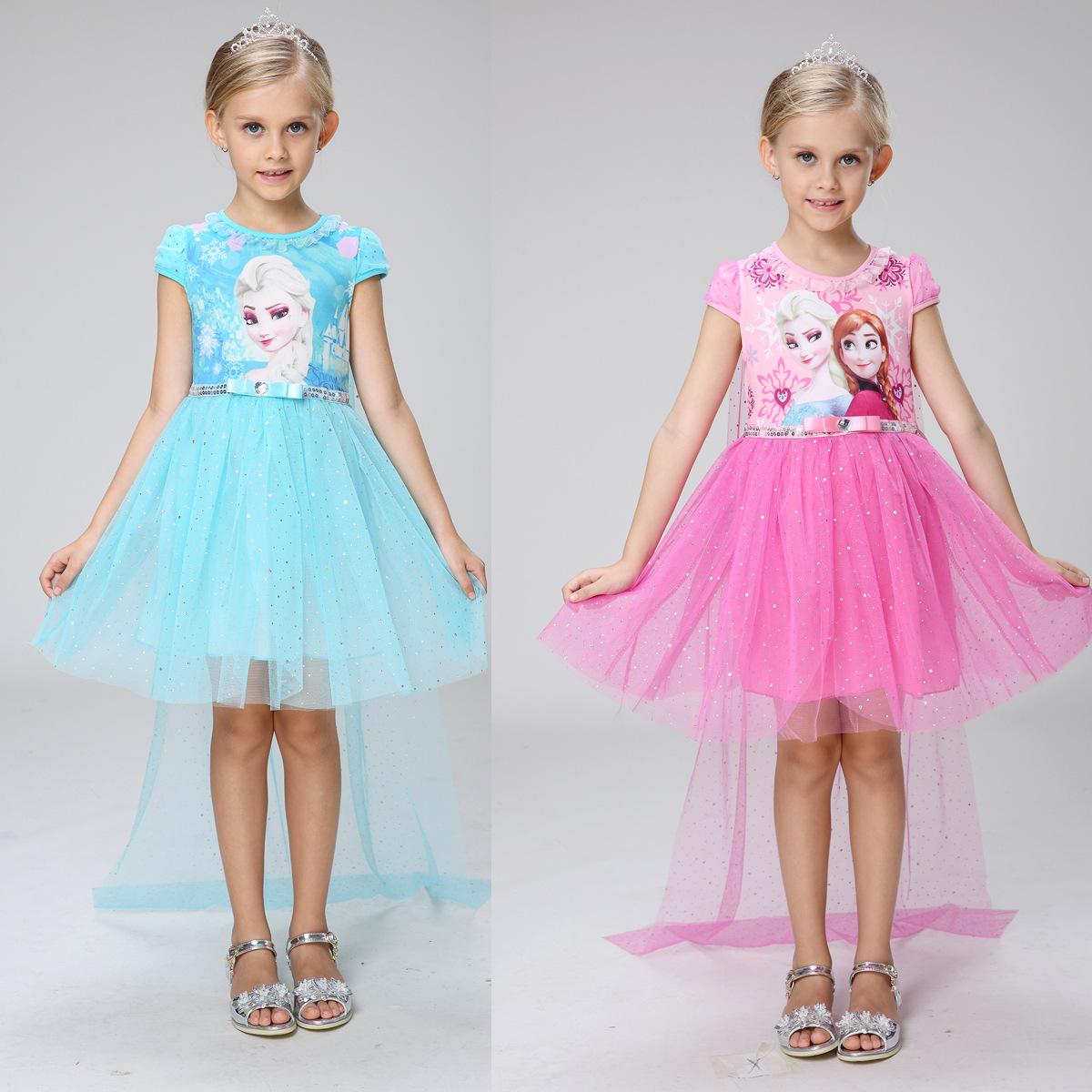 Hot sale 2016 newest free shi ping princess girls dresses pure elsa anna princess olaf - Prinses pure ...