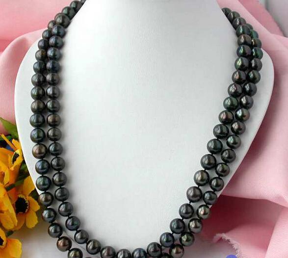 """Здесь можно купить  Jewelr 004799 50"""" 11-12MM ROUND BLACK FRESHWATER CULTURED PEARL NECKLACE 14k   Ювелирные изделия и часы"""