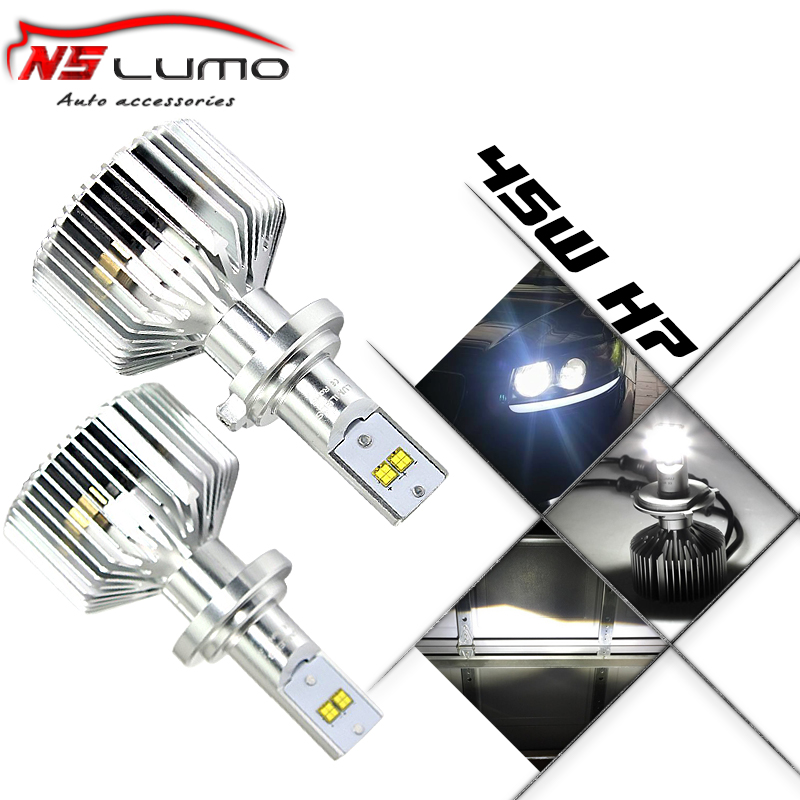 Фотография Free shipping!! Super bright LED Headlight Kits H7 with 4 led chips 12V/24V DC 9000LM adjustable high power H7 led headlight 90W