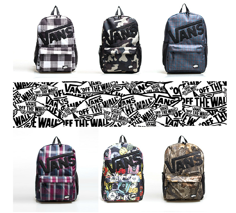new V-AN-S Street Sport backpack HIPHOP HBA camouflage graffiti printing Skateboard Bag Harajuku DC cool camouflage schoolbag(China (Mainland))