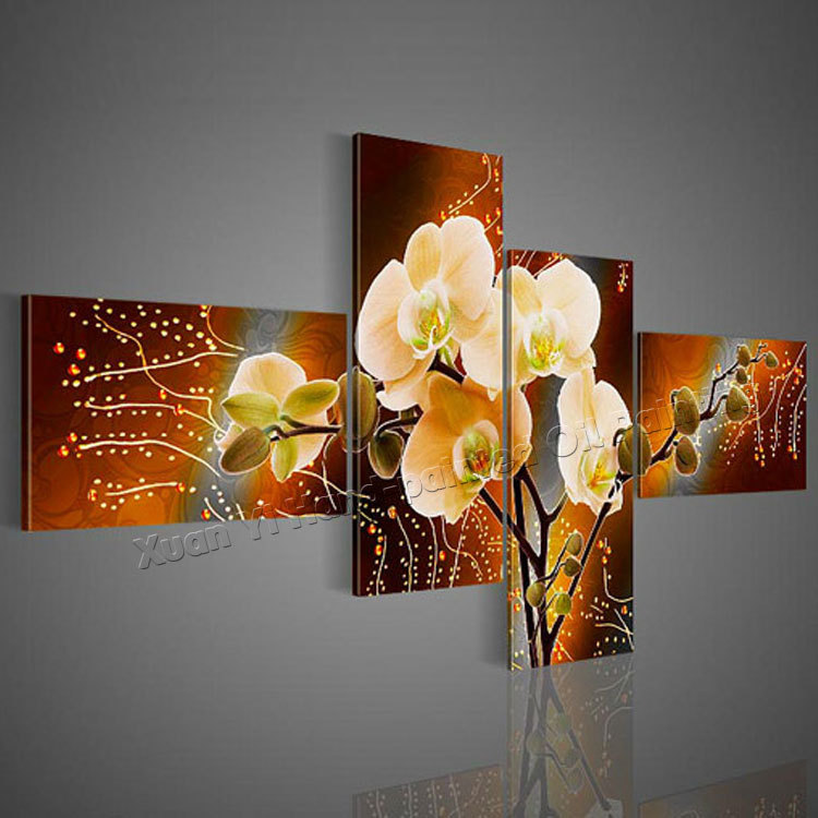 painted flower canvas oil painting picture cuadros wall art home decor