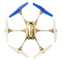 F18597 HuaJun HJ818 W609-9 4.5CH 2.4G with Six Axle Gyro RTF RC Alloy Aircraft Professional Drones with 2.0MP HD Camera Gold