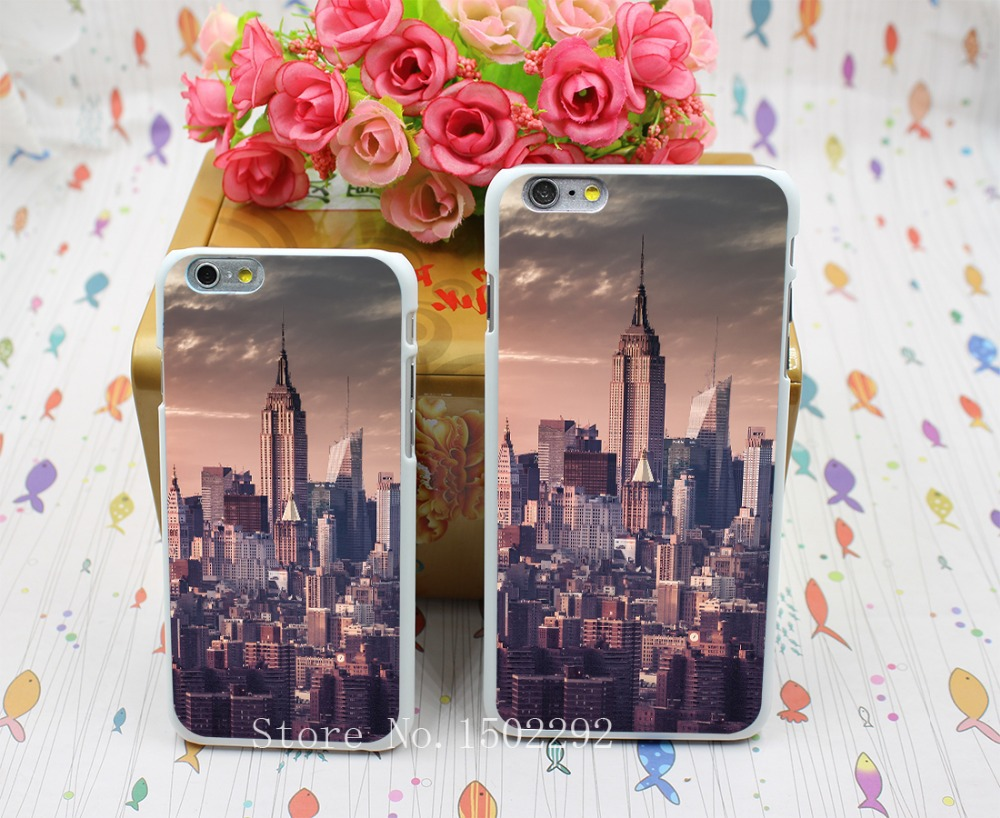 New Arrival New York City Skyline Pink Unique Travel Back Skin Case for iPhone 6 6s 6 plus Protect Cell Phone Cover(China (Mainland))