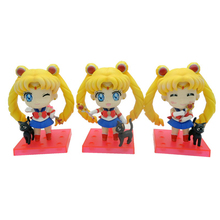Sailor Moon Japanese Anime Sailormoon Tsukino Usagi Action Figure Toys Juguete Brinquedo 8cm 3Pcs PVC Kids Collection Model 0410