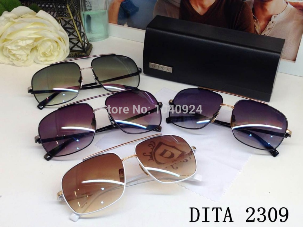HOT!SELLER shipping Special offer exclusive Dita 2309 Owens skinny classic glasses UNISEX SUNGLASSES rivets box thumps(China (Mainland))