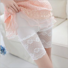 new 2015 hot summer women safety pants  Widen big lace thin section breathable safety pants hot Pants(China (Mainland))