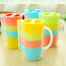 4 pcs/set Candy color cup set coffee mug cup with lid tea set zakka travel drinkware outdoor fun sports Novelty household 5144