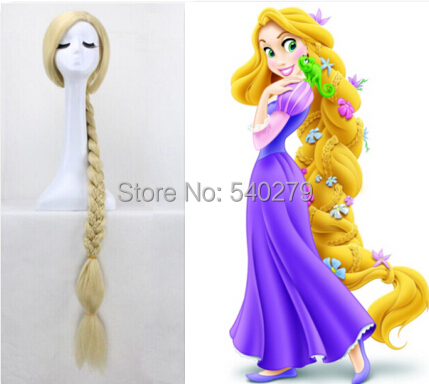 style 120CM Long Rapunzel Tangled Cosplay Wigs Light Blonde Straight Synthetic Hair braid women party Wig - HD online Store store